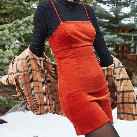 Lottie Moss Dresses & Skirts - Lottie Moss Rust corduroy Dress